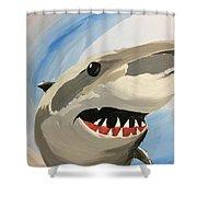 Sharky Grin Shower Curtain