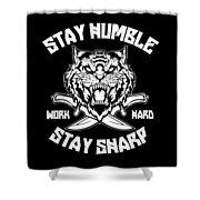 Sharp Tiger Shower Curtain