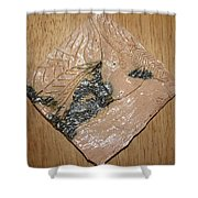 Sharpen - Tile Shower Curtain