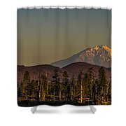 Mt Shasta From Hat Creek Shower Curtain