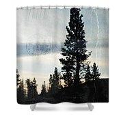 Shasta Trinity National Forest Sunrise Portrait Shower Curtain