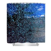 Shattered Blue Shower Curtain