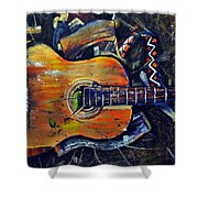 Shattered Melody Shower Curtain