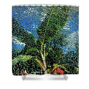 Shattered Plant Shower Curtain