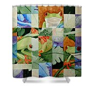 Shattered Reality Xlvii Shower Curtain