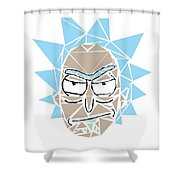 Shattered Reflection Series Shower Curtain