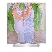 Shawn's Wedding Shower Curtain