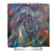 She Dreams In Color Shower Curtain