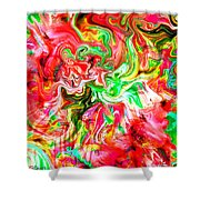 She Embraces Nature Shower Curtain