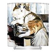 She Has Got The Look - Cat Portrait Shower Curtain