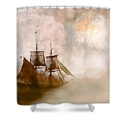 She Returns Home Shower Curtain