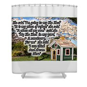 She Shed Shower Curtain by Leona Atkinson