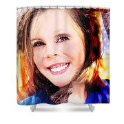She Smiles Again Shower Curtain
