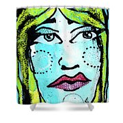 She Was A Handsome Woman Shower Curtain