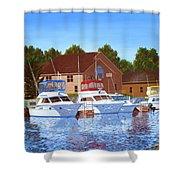 Sheboygan River Marina Shower Curtain