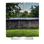 Shed At Camp Pecometh Shower Curtain