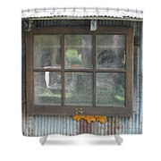 Shed Window Shower Curtain