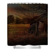 Sheep And Shed Shower Curtain