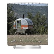 Sheep Herder's Wagon Shower Curtain