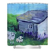 Sheep In Scotland  Shower Curtain