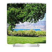Sheep In The Shade Shower Curtain