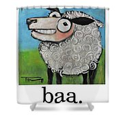 Sheep Poster Shower Curtain