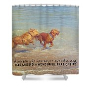 Sheer Joy Quote Shower Curtain