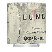 Sheet Music Aubade A La Lune Shower Curtain