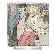 Sheet Music Dans Lxviiieme By Achille Bloch And Louis Byrec, Performed By Farville And Reschal Theo Shower Curtain