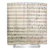 Sheet Music For The Barber Of Seville By Rossini  Shower Curtain