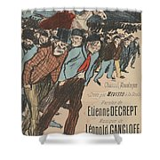 Sheet Music Le Roi Misere By Etienne Decrept And Leopold Gangloff, Performed By Mevisto Theophile Al Shower Curtain