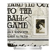 Sheet Music: Take Me Out Shower Curtain