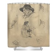 Sheet Of Sketches Shower Curtain