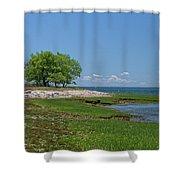 Sheffield Island Coast Shower Curtain