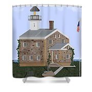 Sheffield Island Lighthouse Connecticut Shower Curtain