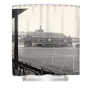 Sheffield United - Bramall Lane - Cricket Pavilion 1 - Bw - 1960s Shower Curtain