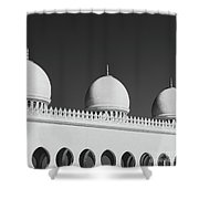 Sheikh Zayed White Mosque Shower Curtain