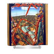 Sheikra Ride Poster 2 Shower Curtain