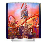 Sheikra Ride Poster 3 Shower Curtain