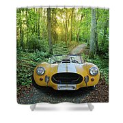 Shelby Ac Cobra In The Woods Shower Curtain
