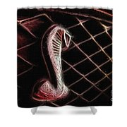 Shelby Cobra Grill Logo Shower Curtain