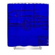 Shelby Gt Mustang Blueprint Shower Curtain