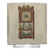 Shelf Clock Shower Curtain
