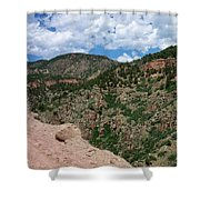 Shelf Road Drop Off Shower Curtain