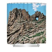 Shelf Road Rock Formations Shower Curtain