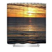 Shell Beach Sunset Shower Curtain