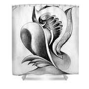 Shell-shaped Buiding From The Land Of Absurd Shower Curtain