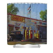 Shell Station Brown County Shower Curtain
