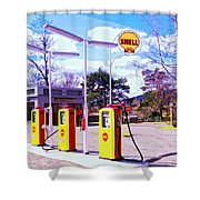 Shell Station Shower Curtain