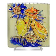 Shell Treasures Shower Curtain